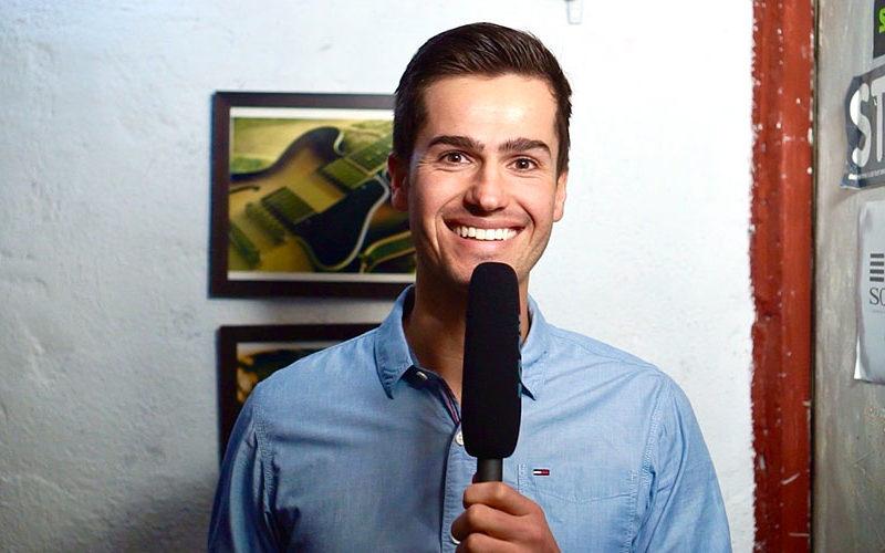 Okto TV Moderator Jürgen Winterleitner In The Basement bei der Band So Much More