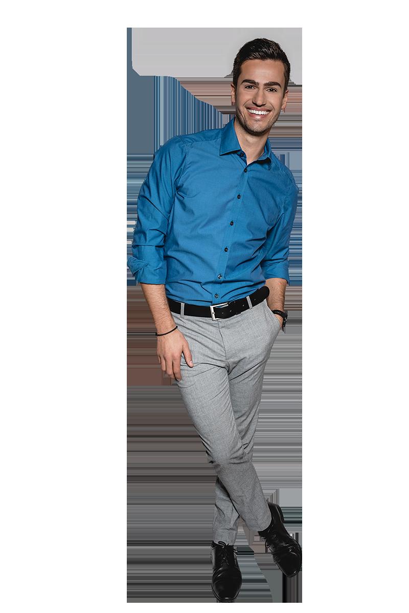 event-moderator juergen winterleitner business hemd blau freigestellt