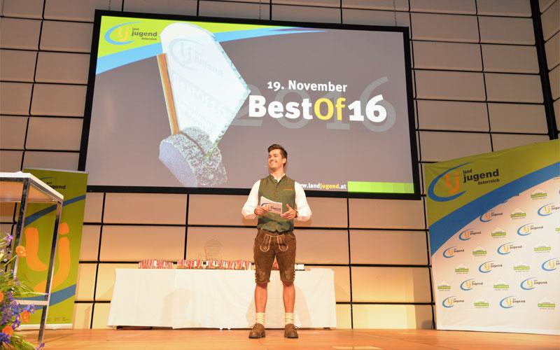 moderation Preisverleihung award ceremony best of landjugend österreich Austria center Vienna wien moderator jürgen winterleitner
