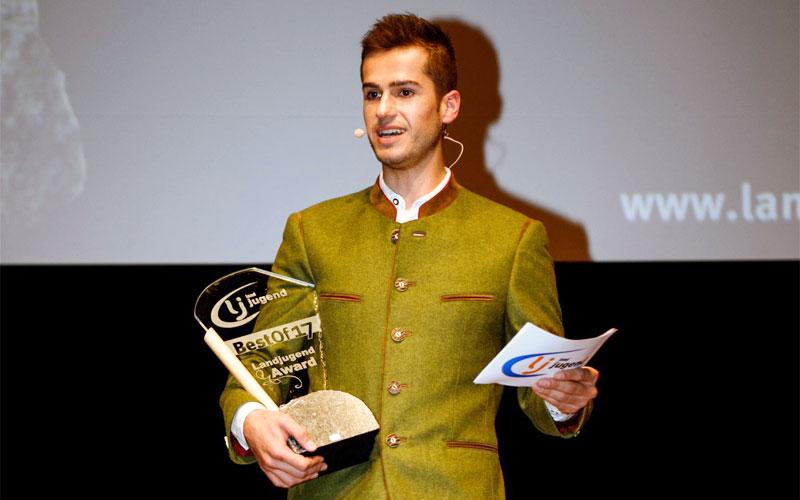 moderator preisverleihung juergen winterleitner bestof landjugend award österreich congress center villach kärnten