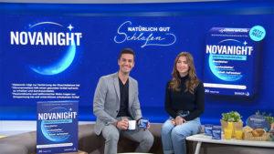Dreh TV Spot für marktguru im Auftrag von Novanight. Moderator Jürgen Winterleitner im Café Puls-Studio von Puls 4