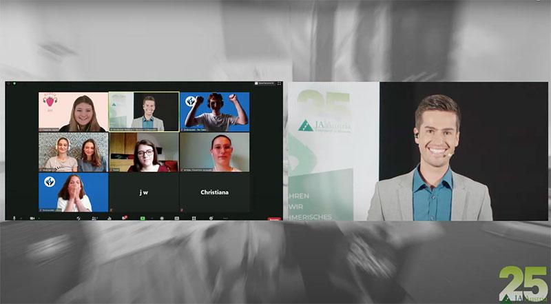 moderator online events hybrides event junior achievement österreich wettbewerb verkündung sieger juergen winterleitner live stream