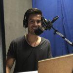 Radiomoderator Jürgen Winterleitner im Studio von Radio Orange 94.0 in Wien